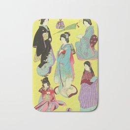 Japanese Art Print - Flowers of the City Bath Mat