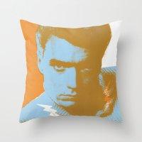 clint barton Throw Pillows featuring clint by zemoamerica