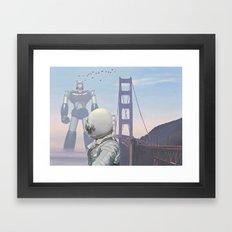A Very Large Robot Framed Art Print