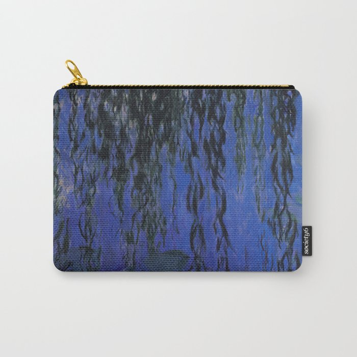"Claude Monet ""Water Lilies and Weeping Willow Branches"", 1919 Carry-All Pouch"