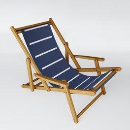 Organic / Navy Sling Chair
