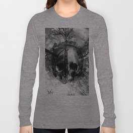 SKULL IN PLANET PROJECT SEMPIONE PARK, MILANO, ARTWORK 2012  Long Sleeve T-shirt