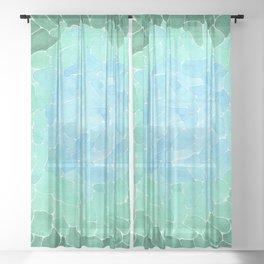 Abstract Sea Glass Sheer Curtain