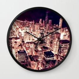 Chicago NightLight Wall Clock