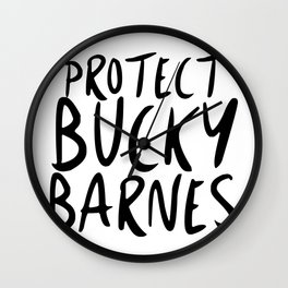 Protect Bucky! Wall Clock