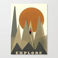 explore Canvas Prints featuring Explore by bri.buckley