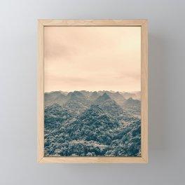 Unreal Dreamlike Hilly Landscape. Nature Photography. Framed Mini Art Print