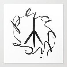 Practice Peace Canvas Print