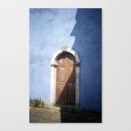 Door in a Blue Church - Zakynthos, Greece Canvas Print