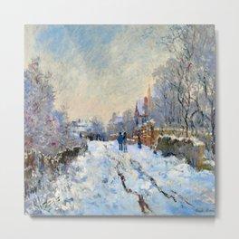 Claude Monet Snow at Argenteuil Metal Print