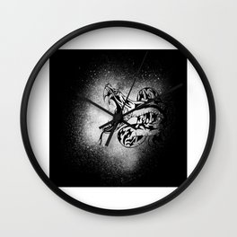 Splash Sea Snake Venomous Snake Reptile Motif Wall Clock