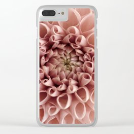 Blush Pink Flower Clear iPhone Case
