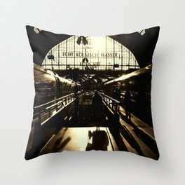 Railway Station Cologne (monochrom) Throw Pillow