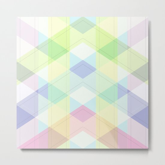 Geometric patchwork 4 Metal Print