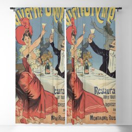 French Paris Restaurant advert by Chéret 1899 Blackout Curtain