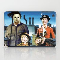 mary poppins iPad Cases featuring Michael Myers in Mary Poppins by Luigi Tarini