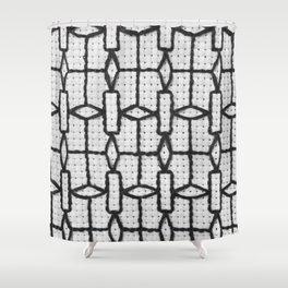 Vintage Window Grille Cross Stitch Pattern #4 Shower Curtain