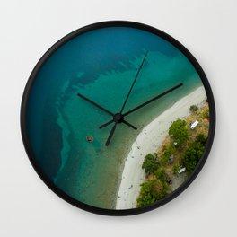 Lake Hawea lake wakatipo blue crystal clear Wall Clock