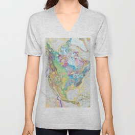 USGS Geological Map of North America Unisex V-Neck