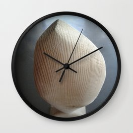 Standing fish of wood Wall Clock