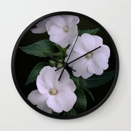 Sunpatiens and Swallowtail Butterfly Wall Clock
