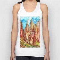 southwest Tank Tops featuring Rocky Southwest by Rosie Brown