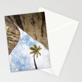 Virgin Gorda Batholithic Boulders and a Sunny Palm Tree Stationery Cards