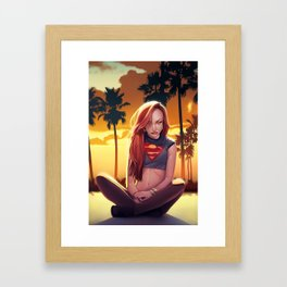 I'm a Supergirl! Framed Art Print