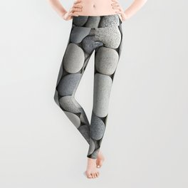 Grey Beige Smooth Pebble Collection Leggings