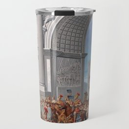 Classical Masterpiece: Roman Legion in Triumphal Procession by Herbert Herget Travel Mug