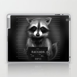 Raccoon Mugshot Laptop & iPad Skin