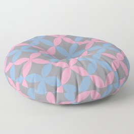 Leaf Minimal Flower Petal Pattern V14 Pantone's Color of the Year 2021 Ultimate Gray and Accents Floor Pillow