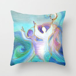 Miriam and the Women Dancing Throw Pillow