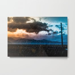 Rainy traintrip Metal Print