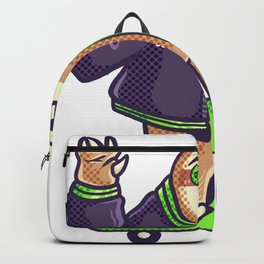 Sloth cool skateboard halfpipe chill Gift Backpack