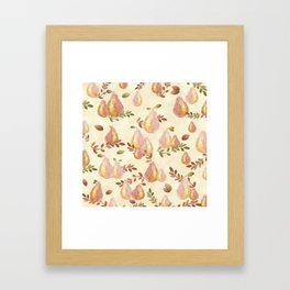 Copper Pears Framed Art Print