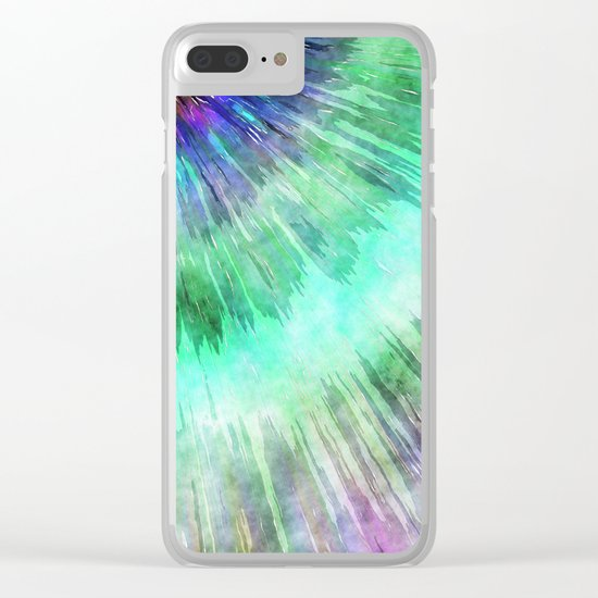 Colorful Tie Dye Watercolor Clear iPhone Case