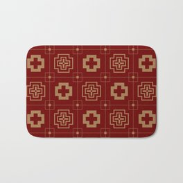 The Directions (Maroon) Bath Mat
