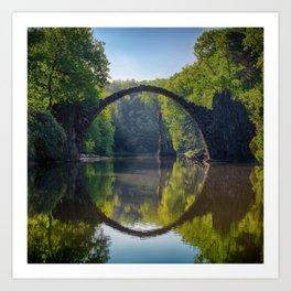 bridge in the nature Art Print