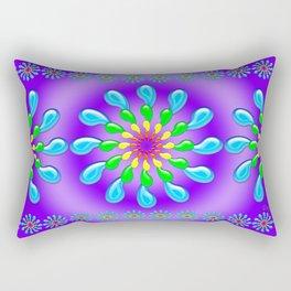 Rainbow Drops Design by Xen™ Rectangular Pillow