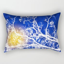 Blue Tree Art Rectangular Pillow