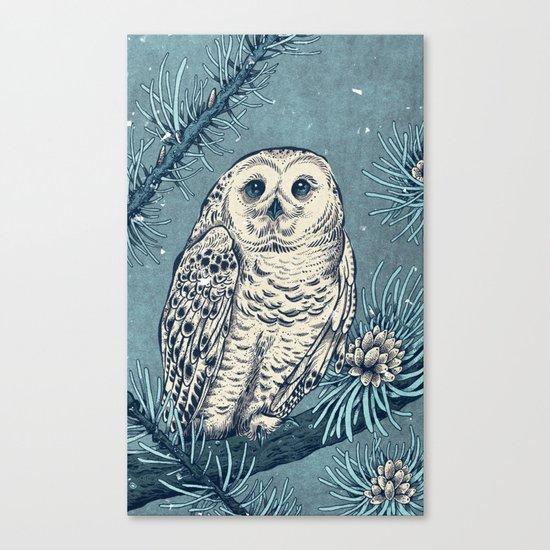 Winter Snowy Owl Canvas Print