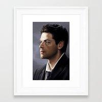 castiel Framed Art Prints featuring Castiel by Ansze