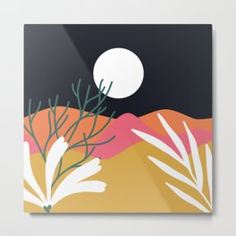 Bright Desert Night Metal Print