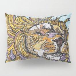 Lion in Lavender Painting Pillow Sham