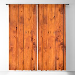Vintage Wooden Boards Effect. Blackout Curtain