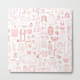 Fashion clothes pattern Metal Print