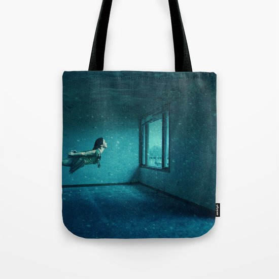 swimming girl Tote Bag