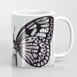 Butterfly and Tulip Endoskeleton (Black Ink Drawing) Coffee Mug