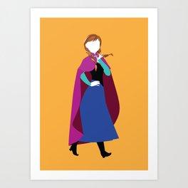 Anna from Frozen - Princesses series Art Print